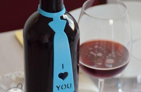 תווית לבקבוק יין- I Love You