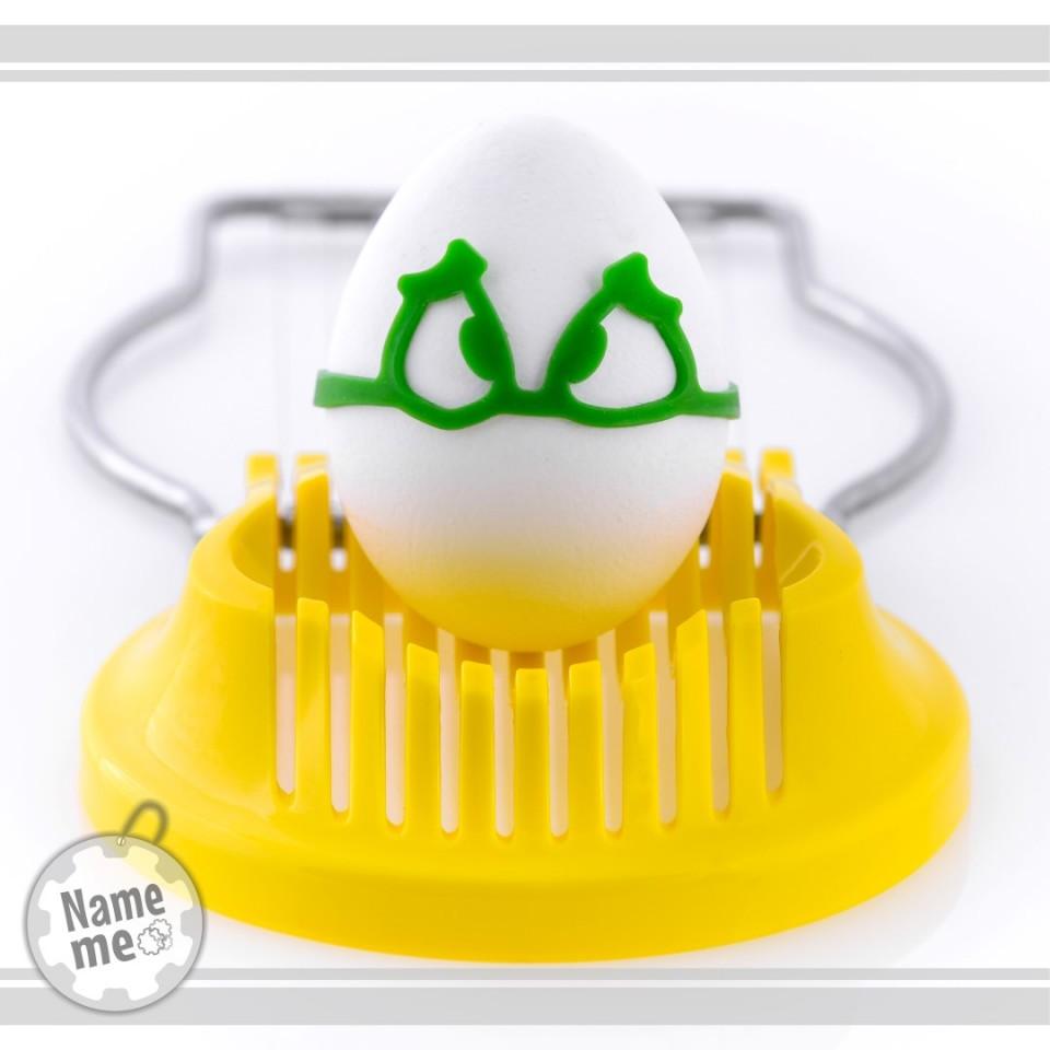 תווית לסימון ביצה קשה במקרר.