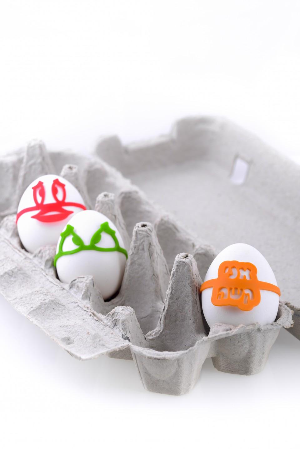תוויות לסימון ביצה קשה במקרר.