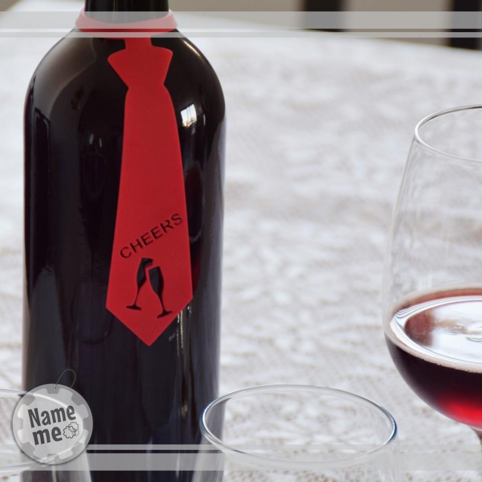תווית לבקבוק יין בכיתוב - Cheers