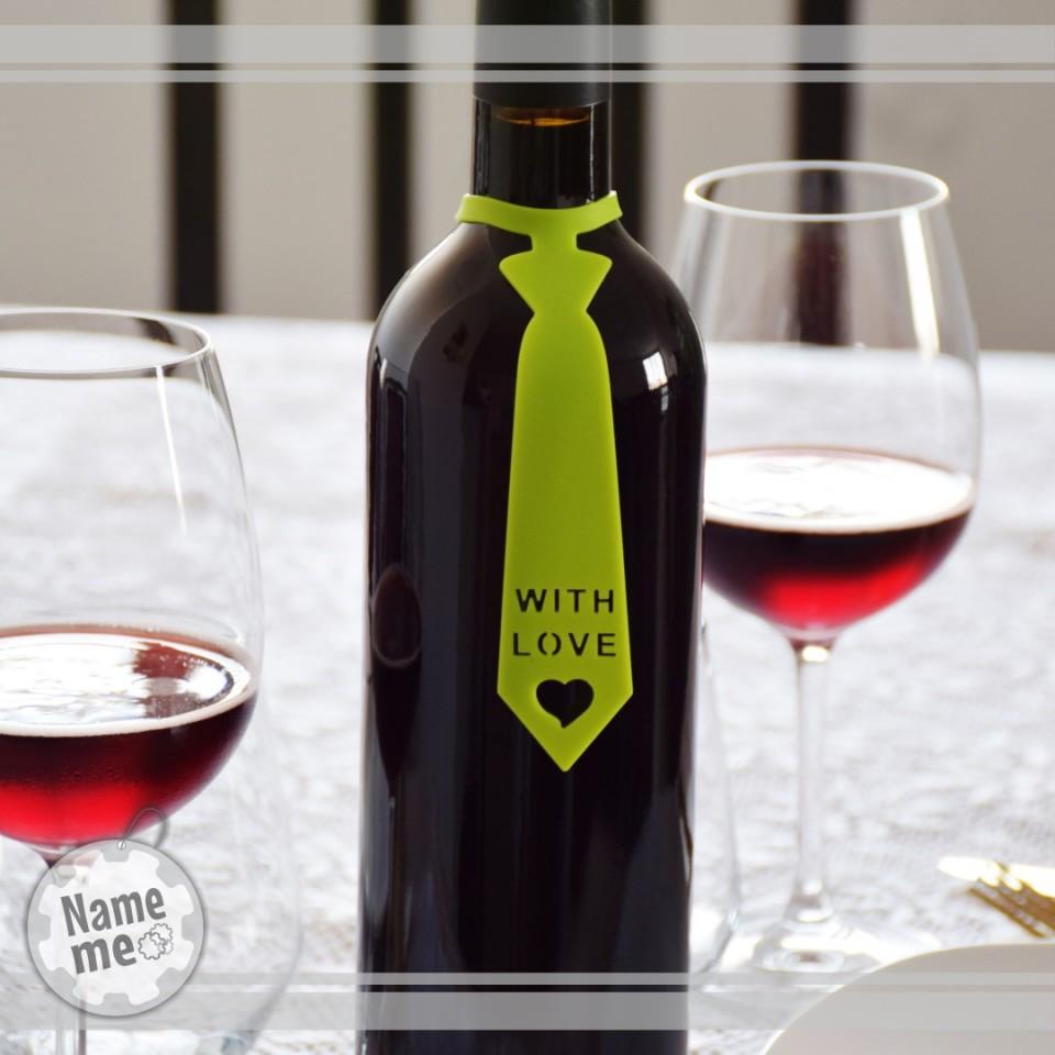 תווית לבקבוק יין- With Love